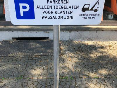 Gratis parking voor onze klanten met parkeerkaart